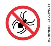 no spiders with ban sign. anti... | Shutterstock .eps vector #1520598755