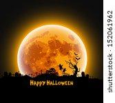 happy halloween message design... | Shutterstock .eps vector #152061962