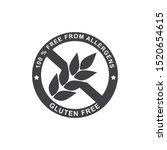gluten free logo  gray  round ... | Shutterstock .eps vector #1520654615
