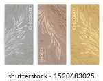 silver and gold vintage set of... | Shutterstock .eps vector #1520683025