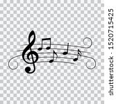 music notes with swirls ... | Shutterstock .eps vector #1520715425
