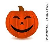 halloween pumpkin with happy... | Shutterstock .eps vector #1520715428
