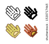 glove icon. with outline  glyph ...