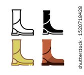jockey boots icon. with outline ...
