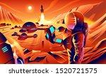 an illustration of astronauts... | Shutterstock .eps vector #1520721575