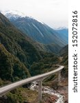 Small photo of The Otira Viaduct, Arthur's Pass, Southern Alps, New Zealand