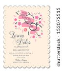 wedding invitation card... | Shutterstock .eps vector #152073515