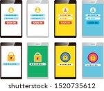 password on smartphone screen.  ...   Shutterstock .eps vector #1520735612