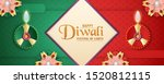diwali is festival of lights of ... | Shutterstock .eps vector #1520812115