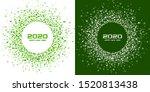 new year 2020 night background... | Shutterstock .eps vector #1520813438