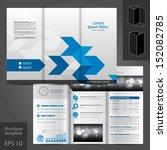vector white brochure template... | Shutterstock .eps vector #152082785
