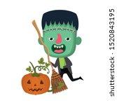 cute little boy with... | Shutterstock .eps vector #1520843195