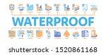 waterproof materials minimal... | Shutterstock .eps vector #1520861168
