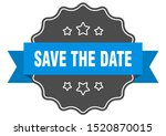 save the date blue label. save... | Shutterstock .eps vector #1520870015