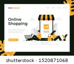 online shopping flat vector...