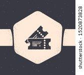 grunge cinema ticket icon... | Shutterstock .eps vector #1520873828