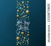 new year background with... | Shutterstock .eps vector #1520875805