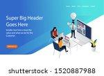 smart education or concept... | Shutterstock .eps vector #1520887988