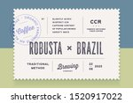 vintage minimal label. set of... | Shutterstock .eps vector #1520917022