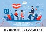 speech therapist practice ... | Shutterstock .eps vector #1520925545