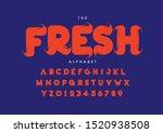 vector of stylized modern font... | Shutterstock .eps vector #1520938508