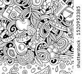 cartoon doodles diet food frame.... | Shutterstock . vector #1520953385