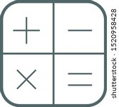 math function icon. vector...