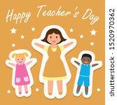 greeting card design for... | Shutterstock .eps vector #1520970362