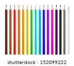 colour pencils isolated on... | Shutterstock . vector #152099222