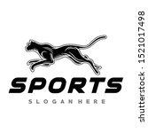 Stock vector cheetah panther running logo vector 1521017498
