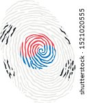 fingerprint vector colored with ... | Shutterstock .eps vector #1521020555