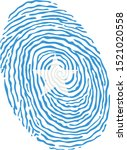 fingerprint vector colored with ... | Shutterstock .eps vector #1521020558