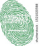fingerprint vector colored with ... | Shutterstock .eps vector #1521020588