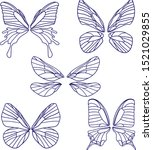 Set Of Butterflies Silhouettes...
