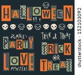 Vector Set Of Halloween's...