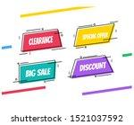 flat linear promotion ribbon...   Shutterstock .eps vector #1521037592