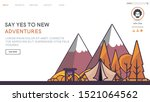 web page design templates with... | Shutterstock .eps vector #1521064562