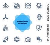high tech line icon set.... | Shutterstock .eps vector #1521103802