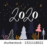 2020 year text  different...   Shutterstock .eps vector #1521118022