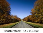 Country Road In Autumn In Nort...