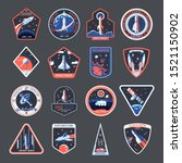 space patches  galaxy... | Shutterstock .eps vector #1521150902