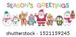 set of cute cartoon character... | Shutterstock .eps vector #1521159245