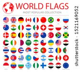 most popular flags in the world.... | Shutterstock .eps vector #1521169052