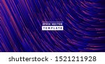 wavy glitch lines composition.... | Shutterstock .eps vector #1521211928