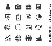 business icons vector   people  ... | Shutterstock .eps vector #1521212402