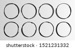 hand drawn circles sketch frame ... | Shutterstock .eps vector #1521231332