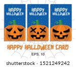 happy halloween vector... | Shutterstock .eps vector #1521249242