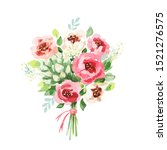 watercolor bouquet. flowers ... | Shutterstock . vector #1521276575
