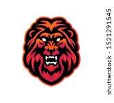 lion head mascot logo for...   Shutterstock .eps vector #1521291545