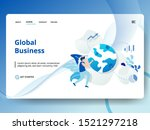 landing page global business...